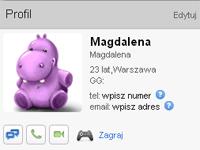 Panel profilu użytkownika