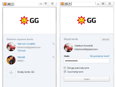 Wiele profili GG na komputerze