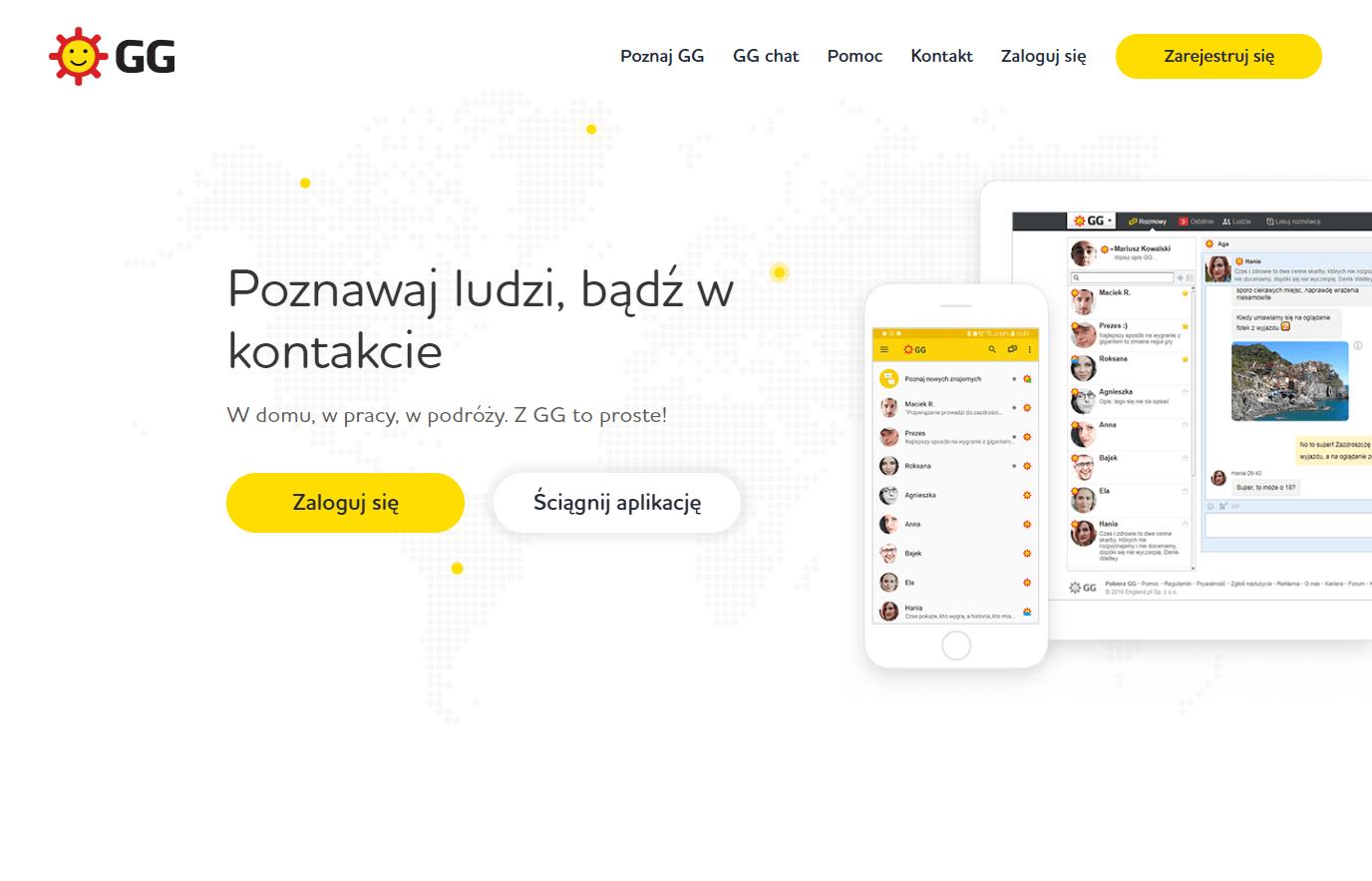 Wejdź na stronę gg.pl